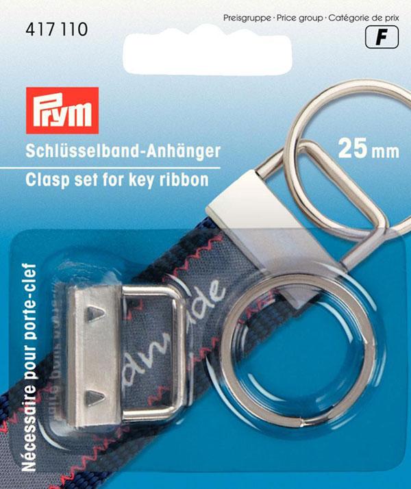 Набор для изготовления брелока Prym, 2 предмета417110Набор для изготовления брелока Prym, выполненный из высококачественного металла, состоит из застежки и кольца. Изделия используются для декоративных целей, например, для держателя ключей или игрушек.