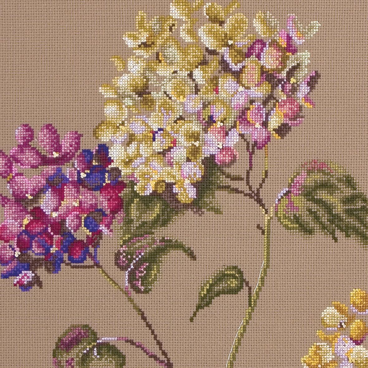 Набор для вышивания Maia Quiet Time - Hydrangea /Тихое время-Гортезия/ 22,5*22,5см (состав: канва Aida 16, цветная схема, нитки Anchor, игла, инструкция), счетный крест, 2 дизайна в наборе5678000-01047Набор для вышивания Maia Quiet Time - Hydrangea /Тихое время-Гортезия/ 22,5*22,5см (состав: канва Aida 16, цветная схема, нитки Anchor, игла, инструкция), счетный крест, 2 дизайна в наборе