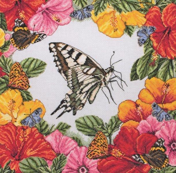 Набор для вышивания Maia Spring Butterflies /Весенние бабочки/ 30*30см (состав: канва Aida 16, цветная схема, нитки Anchor, игла, инструкция), счетный крест5678000-01225Набор для вышивания Maia Spring Butterflies /Весенние бабочки/ 30*30см (состав: канва Aida 16, цветная схема, нитки Anchor, игла, инструкция), счетный крест