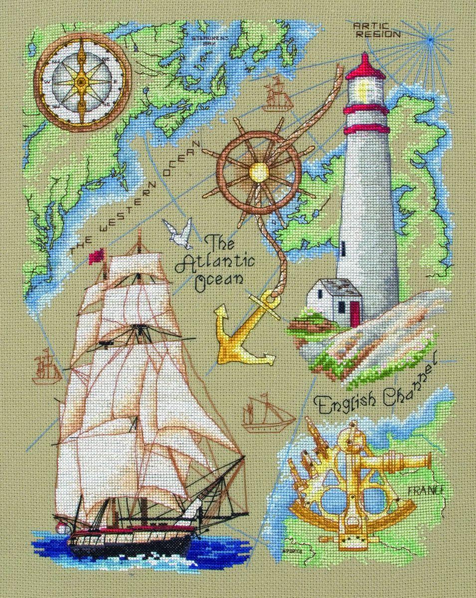 Набор для вышивания Anchor Maritime /Морской/ 31*24см (состав: канва Aida 16, цветная схема, нитки Anchor, игла, инструкция), счетный крестACS35Набор для вышивания Anchor Maritime /Морской/ 31*24см (состав: канва Aida 16, цветная схема, нитки Anchor, игла, инструкция), счетный крест
