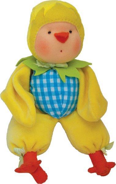 Набор для шитья вальдорфской куклы Цыпленок Ко ко, высота 23смAL0016Набор для шитья вальдорфской куклы Цыпленок Ко ко, высота 23см