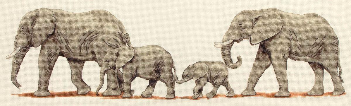 Набор для вышивания Anchor Elephant Stroll /Прогулка слонов/ 14*47см (состав: канва Aida 16, цветная схема, нитки Anchor, игла, инструкция), счетный крестPCE732Набор для вышивания Anchor Elephant Stroll /Прогулка слонов/ 14*47см (состав: канва Aida 16, цветная схема, нитки Anchor, игла, инструкция), счетный крест