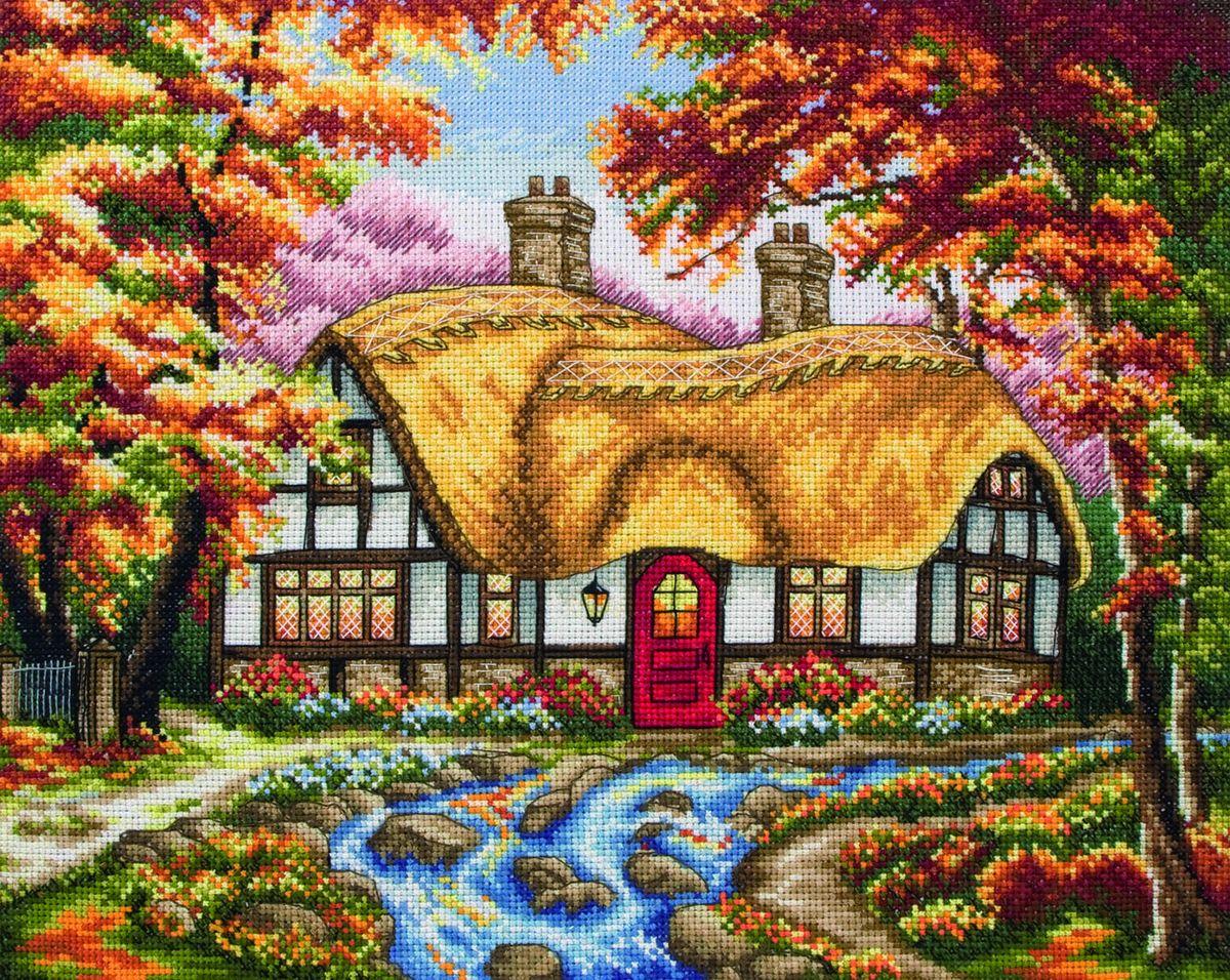Набор для вышивания Anchor The Autumn Cottage /Осенний коттедж/ 25*31см (состав: канва Aida 16, цветная схема, нитки Anchor, игла, инструкция), счетный крестPCE746Набор для вышивания Anchor The Autumn Cottage /Осенний коттедж/ 25*31см (состав: канва Aida 16, цветная схема, нитки Anchor, игла, инструкция), счетный крест