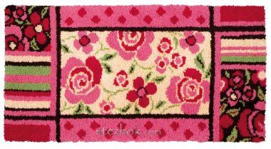 Набор - ковровая техника,137х68 см , жесткая канва 3*3, с нанесенным рисунком, мулине Rug Wool-шерсть (предварительно нарезанные нити), крючок, схема, инструкция.RC00005Набор - ковровая техника,137х68 см , жесткая канва 3*3, с нанесенным рисунком, мулине Rug Wool-шерсть (предварительно нарезанные нити), крючок, схема, инструкция.