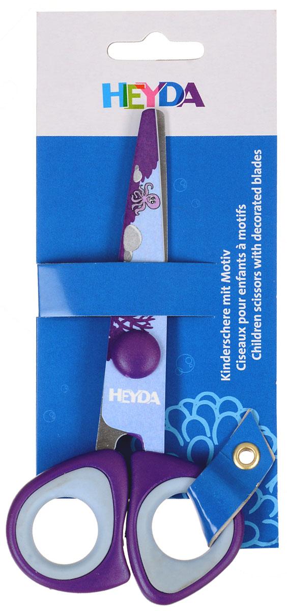 Heyda Ножницы детские, цвет: фиолетовый, 14 см48895-42\BCDДетские ножницы Heyda предназначены для детского творчества и художественно-оформительских работ. Лезвия выполнены из высококачественной нержавеющей стали. Облегченные пластиковые ручки с прорезиненными вставками адаптированы для детской руки. Ножницы имеют закругленный концы, что делает эксплуатацию безопасной.