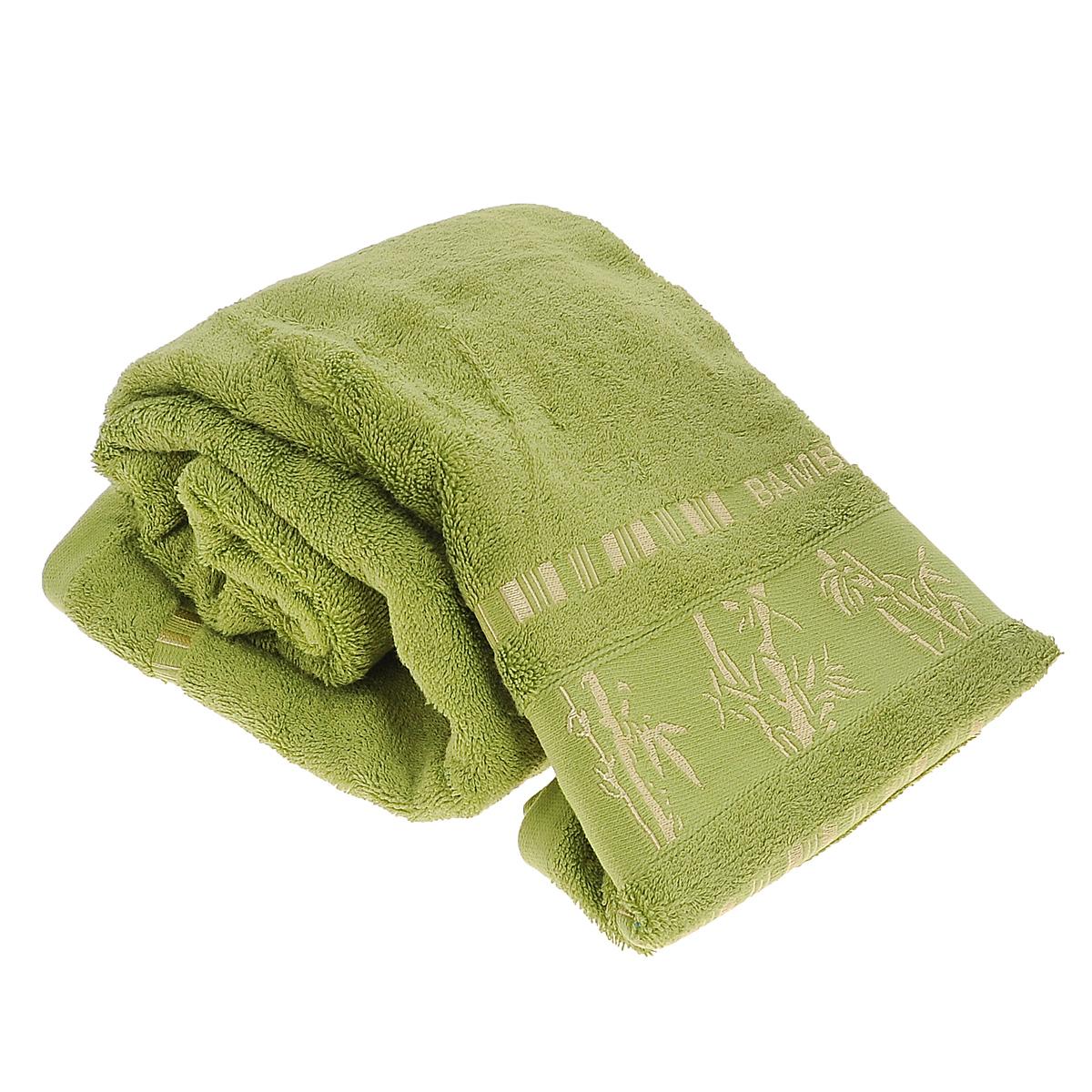 Полотенце Mariposa Bamboo, цвет: зеленый, 70 см х 140 см62352Полотенце Mariposa Bamboo, изготовленное из 60% бамбука и 40% хлопка, подарит массу положительных эмоций и приятных ощущений. Полотенца из бамбука только издали похожи на обычные. На самом деле, при первом же прикосновении вы ощутите невероятную мягкость и шелковистость. Таким полотенцем не нужно вытираться - только коснитесь кожи - и ткань сама все впитает! Несмотря на богатую плотность и высокую петлю полотенца, оно быстро сохнет, остается легким даже при намокании. Благородный тон создает уют и подчеркивает лучшие качества махровой ткани. Полотенце Mariposa Bamboo станет достойным выбором для вас и приятным подарком для ваших близких.