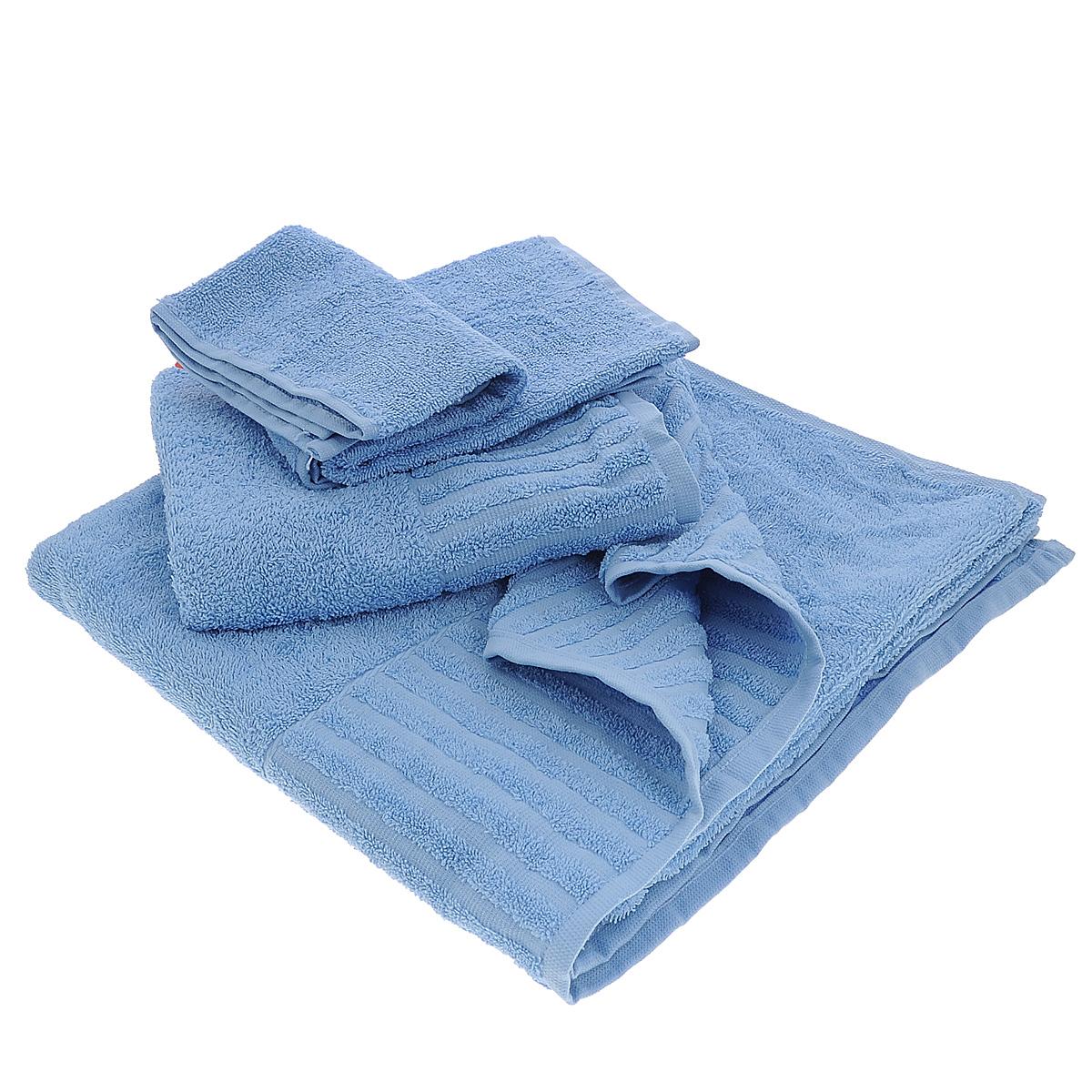 Набор махровых полотенец Bonita, цвет: голубой, 3 шт01011116344Набор Bonita состоит из трех полотенец разного размера, выполненных из натурального хлопка. Такие полотенца отлично впитывают влагу, быстро сохнут, сохраняют яркость цвета и не теряют формы даже после многократных стирок. Полотенца очень практичны и неприхотливы в уходе. Размер полотенец: 40 см х 70 см; 50 см х 90 см; 70 см х 140 см.