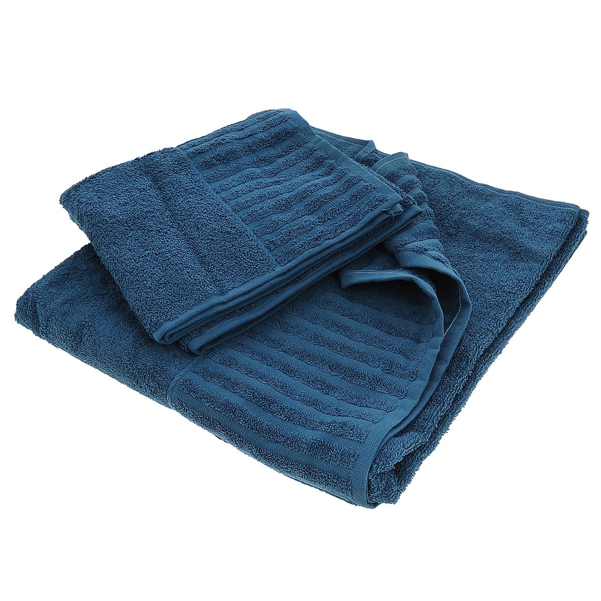 Набор махровых полотенец Bonita, цвет: черничный, 2 шт01011116228Набор Bonita состоит из двух полотенец разного размера, выполненных из натурального хлопка. Такие полотенца отлично впитывают влагу, быстро сохнут, сохраняют яркость цвета и не теряют формы даже после многократных стирок. Полотенца очень практичны и неприхотливы в уходе. Размер полотенец: 50 см х 90 см; 70 см х 140 см.
