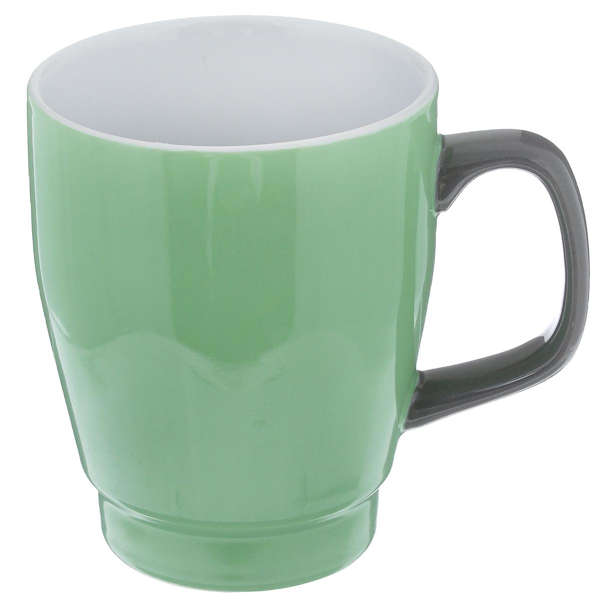 Кружка Sagaform, цвет: зеленый, серый, 380 мл5016585Кружка Sagaform выполнена из высококачественной керамики. Изделие оснащено удобной ручкой. Кружка сочетает в себе оригинальный дизайн и функциональность. Благодаря такой кружке пить напитки будет еще вкуснее. Кружка Sagaform согреет вас долгими холодными вечерами. Можно использовать в посудомоечной машине. Объем: 380 мл. Диаметр (по верхнему краю): 8,5 см. Высота кружки: 11 см.
