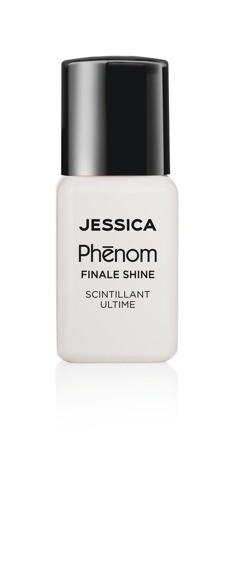 Jessica Phenom Закрепляющее покрытие Finale Shine Topcoat 15 млPHEN-000Система покрытия ногтей Phenom обеспечивает быстрое высыхание, обладает стойкостью до 10 дней и имеет блеск гель-лака. Не нуждается в использовании LED/UV ламп. Легко удаляется, как обычный лак для ногтей. Покрытия JESSICA Phenom являются 5-Free и не содержат формальдегид, формальдегидных смол, толуола, дибутилфталат и камфору. Как наносить: Система Phenom – это великолепный маникюр за 1-2-3 шага: ШАГ 1: Базовое покрытие – нанесите в два слоя базовое средство JESSICA, подходящее Вашему типу ногтевой пластины. ШАГ 2: Цвет – нанесите в два слоя любой оттенок Phenom Vivid Colour. ШАГ 3: Закрепление – нанесите в один слой Phenom Finale Shine Topcoat для получения блеска гель-лака.