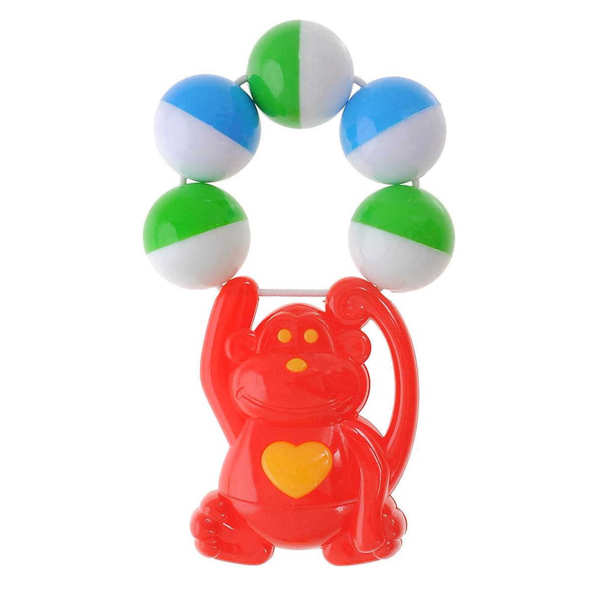 Stellar Погремушка Обезьяна цвет красный01539_обезьяна, красныйЯркая погремушка Обезьяна не оставит вашего малыша равнодушным и не позволит ему скучать! Игрушка представляет собой забавную обезьянку, держащуюся за связку разноцветных шариков, выполняющих роль погремушки. Удобная форма ручки погремушки позволит малышу с легкостью взять и держать ее. Яркие цвета направлены на развитие мыслительной деятельности, цветовосприятия, тактильных ощущений и мелкой моторики рук ребенка, а элемент погремушки способствует развитию слуха.