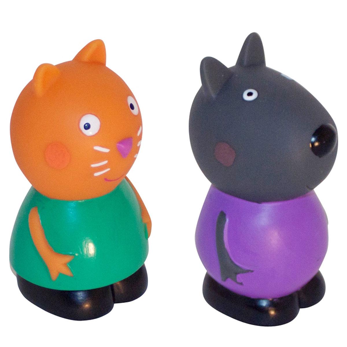 Peppa Pig Игровой набор Кенди и Денни28792Игровой набор Peppa Pig Кенди и Денни непременно понравится вашему ребенку и займет его внимание надолго. Набор включает две фигурки: котенка Кенди и щенка Денни. Фигурки выполнены из мягкого пластизоля. Ваш ребенок будет с удовольствием играть с этим набором, придумывая различные истории и составляя собственные сюжеты. Пеппа - симпатичная маленькая свинка, которая живет вместе со своими Мамой Свинкой, Папой Свином и маленьким братиком Джорджем. Пеппа обожает играть, наряжаться, бывать в новых местах и заводить новые знакомства, но самое любимое занятие Пеппы - прыгать в грязных лужах. Герои мультфильма наделены частично качествами людей, частично качествами животных. Они ходят в одежде, живут в домах, ездят на машинах, ходят на работу и в театр. Дети отмечают дни рождения, играют в парках, катаются на катках и занимаются всем, что присуще людям. В то же время свинки постоянно хрюкают, овечки блеют, а кошки мяукают. Игровой набор Peppa Pig Кенди и Денни станет отличным...