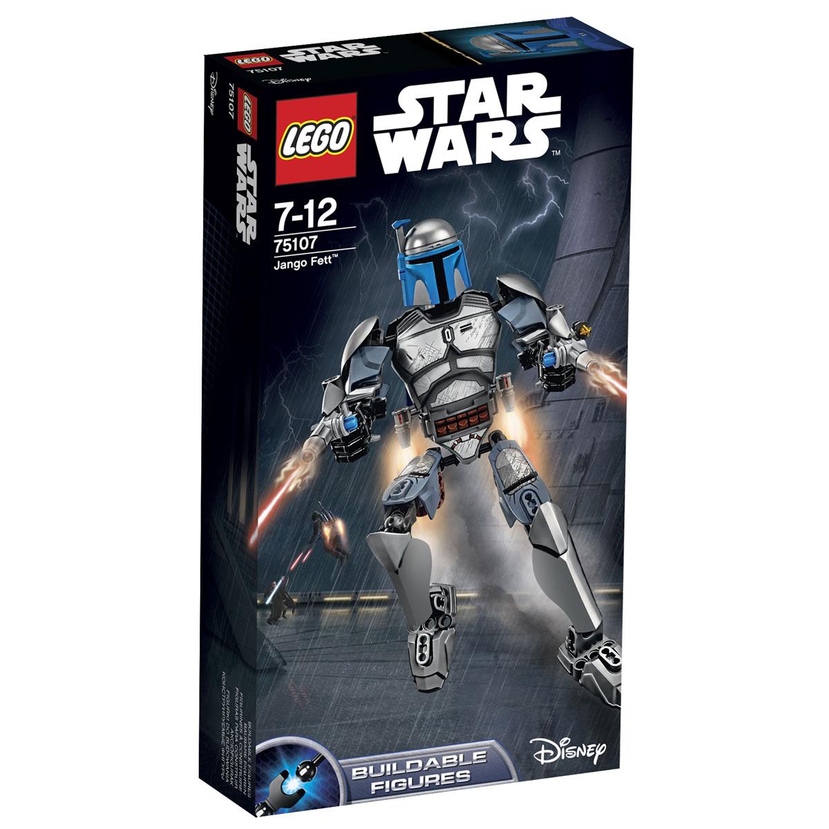 LEGO Star Wars Конструктор Джанго Фетт 7510775107Конструктор LEGO Джанго Фетт станет отличным подарком фанатам Звездных войн! Джанго Фетт имел репутацию решительного и беспринципного охотника за головами. Каждый свой заказ он выполнял с особой расчётливостью и точностью. В этом ему помогала не только физическая подготовка и мастерское владение оружием, но и уникальный бронированный костюм, покрывающий всё его тело. На голове Фетта всегда красовался гладкий шлем, сочетающий в себе функциональность, надёжность и стиль. Особое внимание было отведено защитным функция обмундирования. Наличие массивных бронированных пластин позволяло вступать в схватки даже с неравным противником, а дополнительное вооружение делало Джанго практически неуязвимым. Кроме двух идентичных пистолетов он использовал складные лезвия для метания, закреплённые на запястье. Главной особенностью бронекостюма являлся реактивный ранец, закреплённый на спине. С его помощью Фетт мог эффективно маневрировать и превосходить своих оппонентов, как в скорости, так и...