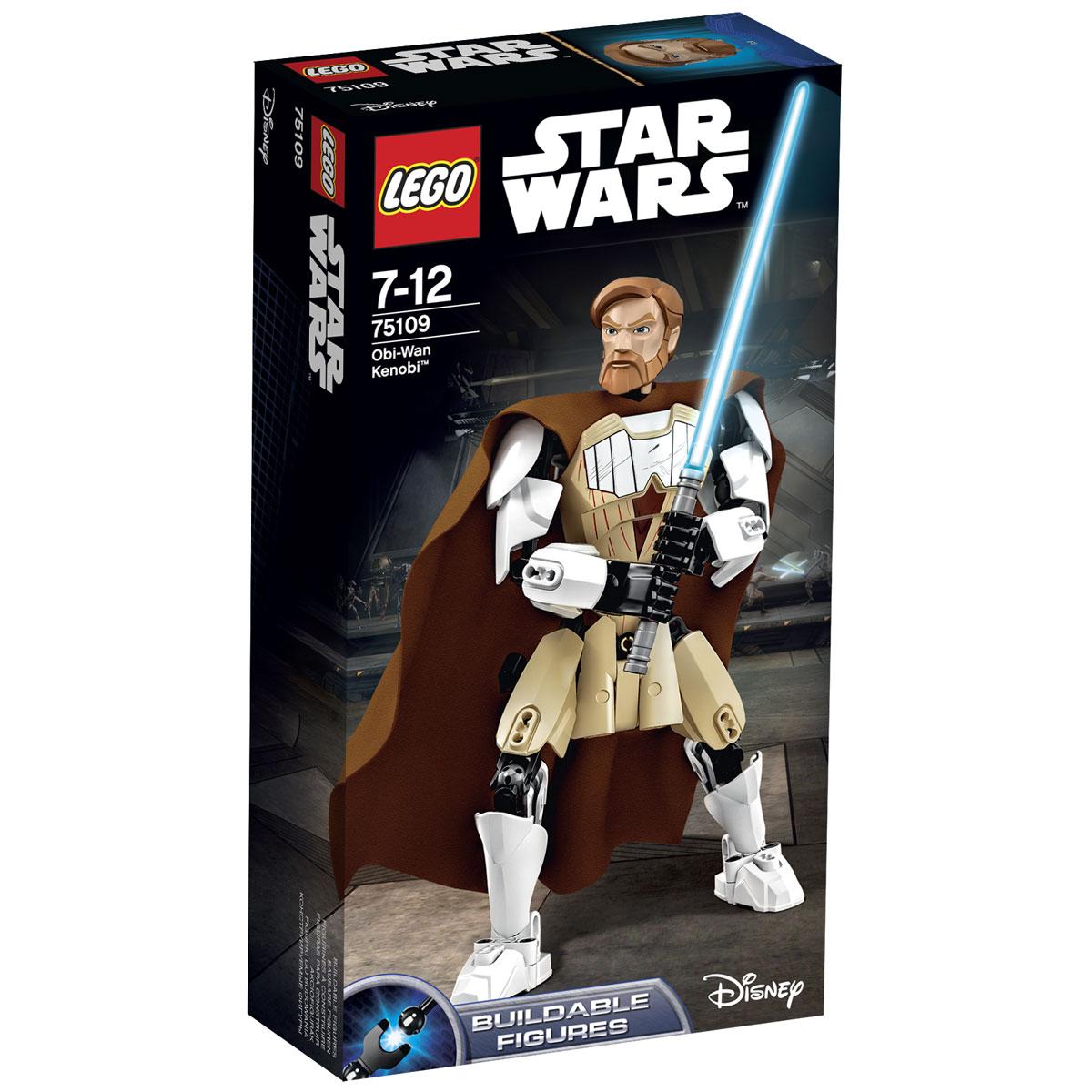 LEGO Star Wars Конструктор Оби Ван Кеноби 7510975109Конструктор LEGO Оби-Ван Кеноби станет отличным подарком фанатам Звездных войн! Боевая фигура Оби-Вана Кеноби посвящена наиболее значимому периоду в жизни легендарного мастера-джедая. Его лицо украшает пышная борода, а взгляд выражает готовность к сражению. Таким его запомнили все приверженцы Галактической Республики времён Войн клонов. Тело Кеноби покрывают защитные пластины бежевого и белого цвета, а за спиной развивается длинный матерчатый плащ. В правой руке джедай сжимает световой меч, который стал его верным другом в борьбе против приспешников Империи. Высота фигуры Оби-Вана Кеноби составляет 25 см. Благодаря шарнирной конструкции всех суставов джедай способен реалистично двигаться, а также принимать различные боевые позы, не теряя при этом равновесие. На бедре фигуры предусмотрено крепление для светового меча. Во время дуэли Кеноби может фехтовать одной или обеими руками, в зависимости от выбранной техники боя и количества противников. Конструктор - это один...