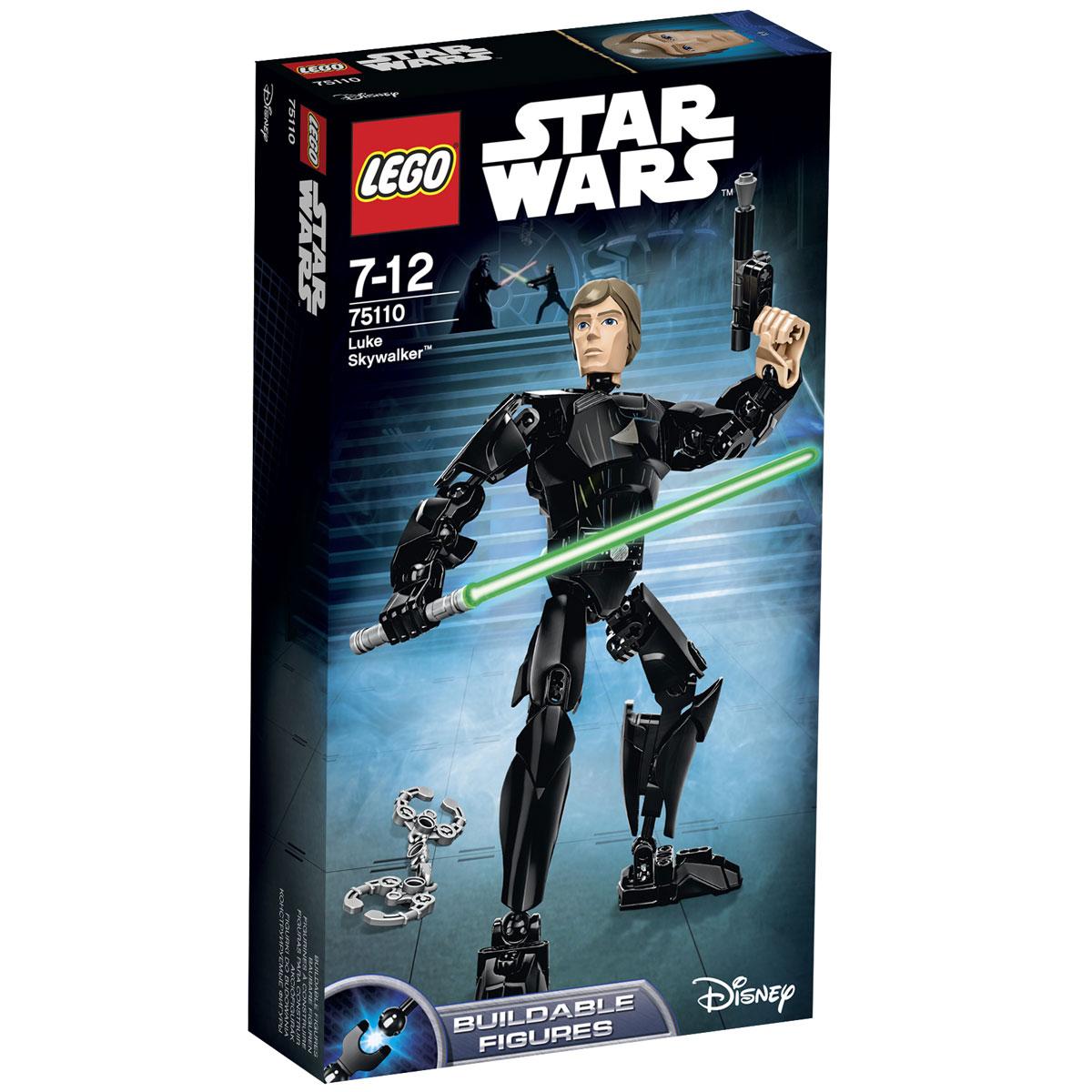 LEGO Star Wars Конструктор Люк Скайуокер 7511075110Конструктор LEGO Люк Скайуокер станет отличным подарком фанатам Звездных войн! Фигура Люка Скайуокера выполнена с огромным вниманием к деталям. Её внешний вид наглядно демонстрирует готовность героя вступить в сражение со всеми приспешниками Императора и даже со своим собственным отцом. Благодаря шарнирной конструкции рук и ног, Люк может сгибать локти и колени, а также поворачивать запястья и стопы. Это позволяет принимать реалистичные боевые позы и не терять равновесие. Ещё одной отличительной особенностью фигуры является только одна здоровая рука. Это говорит о том, что юный джедай уже встречался в бою с Дартом Вейдером и в результате поединка лишился правой руки. Также в наборе присутствуют наручники и световой меч с креплением к ноге, что напоминает о главном эпизоде киносаги, когда Люк сдался имперским солдатам, попал на Звезду Смерти II и принял участие в финальной дуэли на световых мечах. Конструктор - это один из самых увлекательнейших и веселых способов...