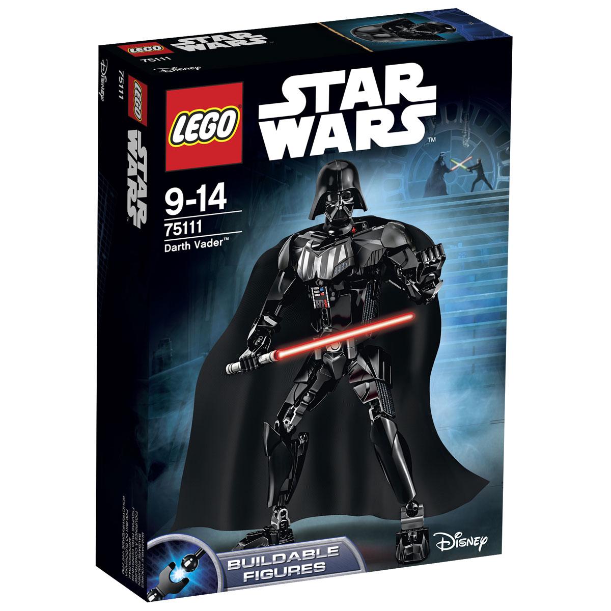 LEGO Star Wars Конструктор Дарт Вейдер 7511175111Конструктор LEGO Дарт Вейдер станет отличным подарком фанатам Звездных войн! После дуэли с Оби-Ваном Кеноби Дарт Вейдер был вынужден носить уникальные доспехи, которые стали его своеобразной визитной карточкой. По сути, это мрачное обмундирование служило многофункциональной системой жизнеобеспечения, которая не только скрывала тяжелейшие травмы Вейдера, но и помогала ему ощутить всю мощь Тёмной стороны Силы. На голове Лорда ситов красовался начищенный чёрный шлем, соединённый с маской. В ней был установлен дыхательный аппарат с треугольным воздушным фильтром в области рта. Грудная клетка и плечи Вейдера покрывались специальной бронёй, выполненной из прочных сплавов чёрного и серого цвета. К верхним швам нагрудника присоединялся длинный матерчатый плащ, который эффектно развивался при ходьбе. В области солнечного сплетения была зафиксирована панель управления, состоящая из кнопок и разноцветных индикаторов. С её помощью можно было отрегулировалось большинство функций костюма....