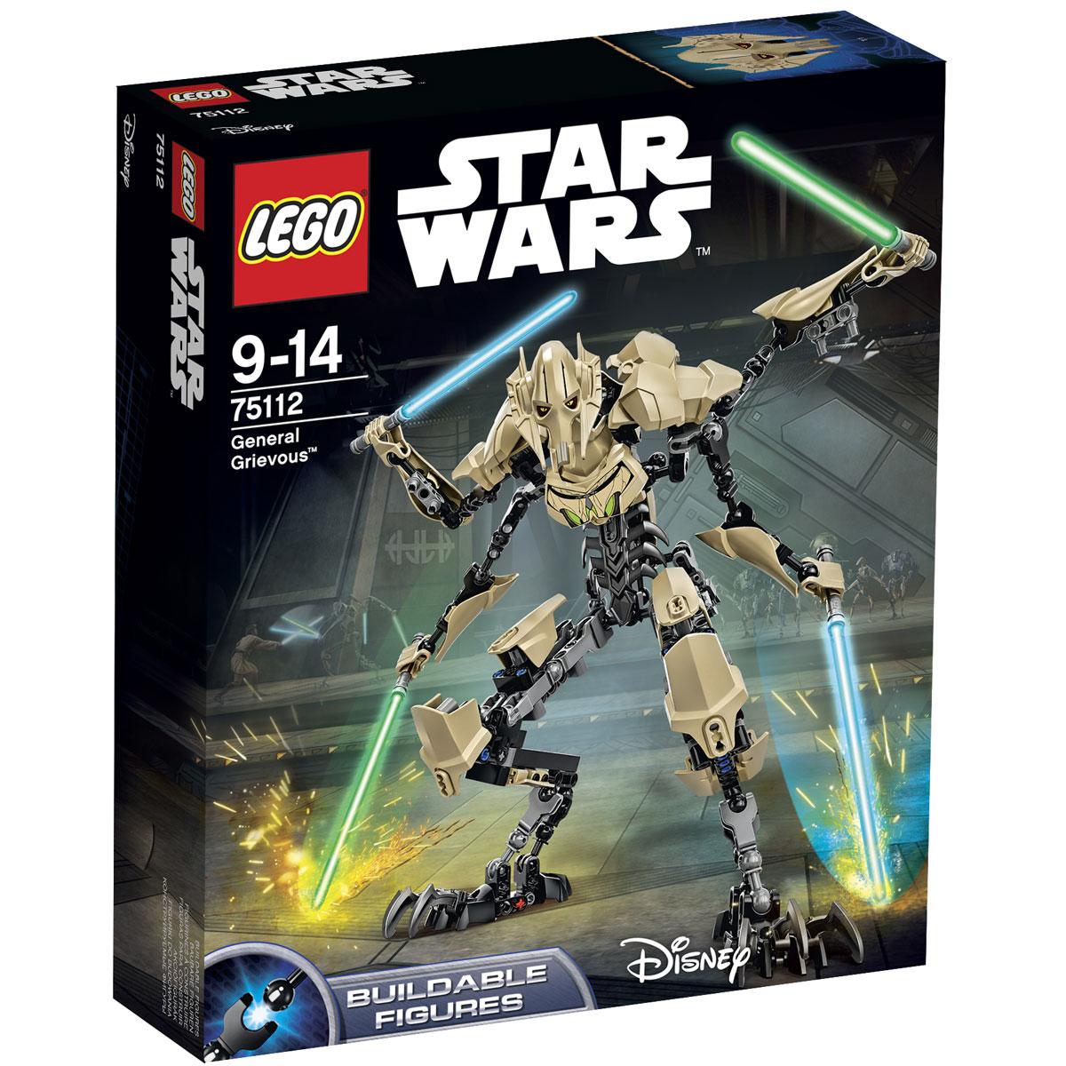 LEGO Star Wars Конструктор Генерал Гривус 7511275112Конструктор LEGO Генерал Гривус станет отличным подарком фанатам Звездных войн! Генерал Гривус известен как верховный главнокомандующий Армией дроидов Конфедерации Независимых Систем во времена Войн клонов. Но, мало кто помнит, что изначально Гривус не был исполнителем приказов графа Дуку, а героически сражался за свободу своего порабощённого народа на планете Кали. Своим бесстрашием и фанатичной жаждой отмщения он смог напугать многих галактических захватчиков, которые в свою очередь решили избавиться от ненавистного Гривуса раз и навсегда. На его корабле была заложена ионная бомба, которая безукоризненно сработала. Но взрыв не погубил будущего генерала, а лишь покалечил его. Граф Дуку подобрал раненого и предложил ему сделку. В обмен на верную службу сепаратистам он должен подвергнуться трансформации. Дав согласие, Гривус превратился в киборга, напоминающего собой улучшенную модель дроида. Его корпус состоял из гибкого металлического скелета, покрытого бежевыми защитными...