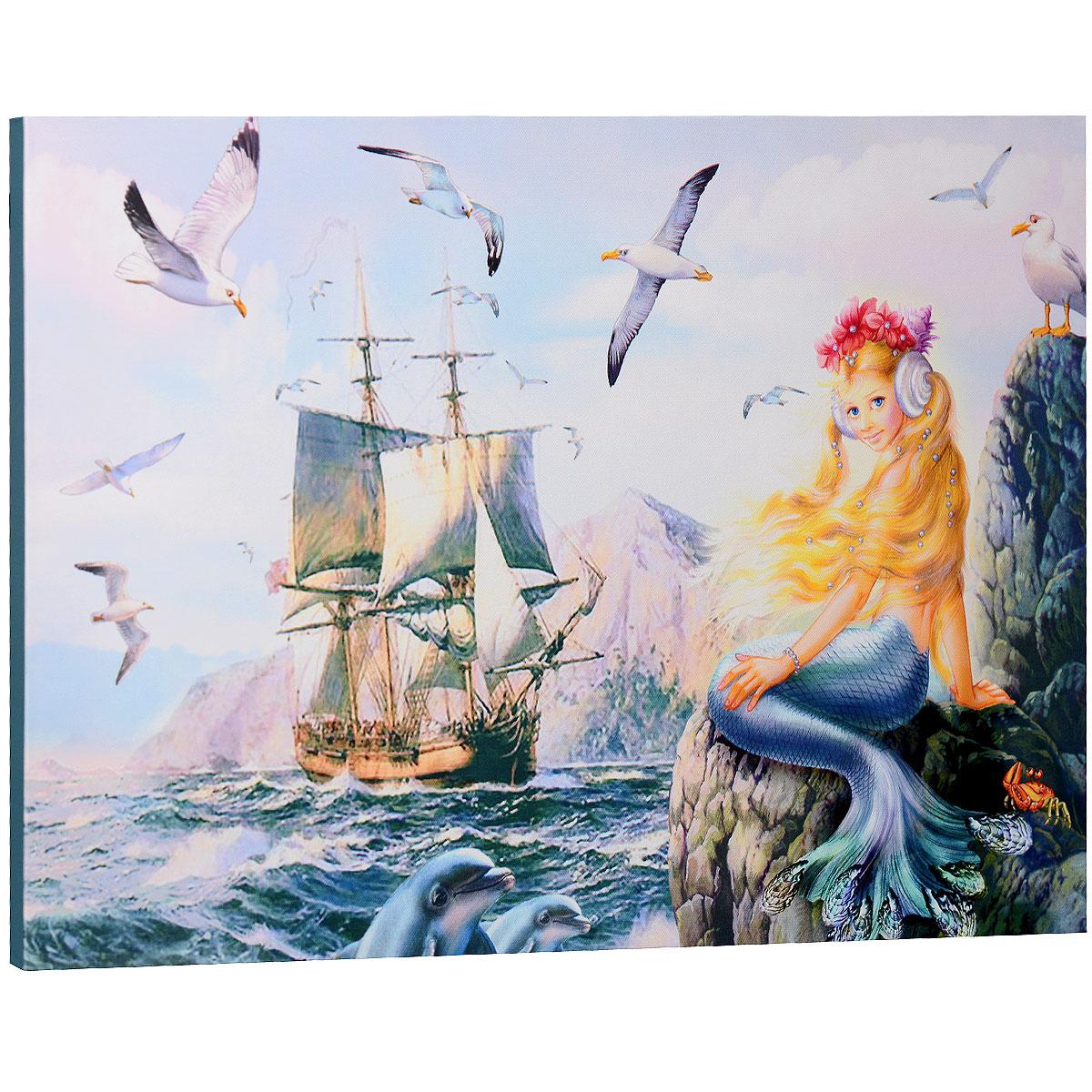 КвикДекор Картина на холсте Морская принцесса, 60 см х 40 смAP-00033-15758-Cn6040Картина на холсте КвикДекор Морская принцесса автора Зорина Балдеску дополнит обстановку интерьера яркими красками и необычным оформлением. Изделие представляет собой картину с латексной печатью на натуральном хлопчатобумажном холсте. Галерейная натяжка холста на подрамники выполнена очень аккуратно, а боковые части картины запечатаны тоновой заливкой. Обратная сторона подрамника содержит отверстие, благодаря которому картину можно легко закрепить на стене и подкорректировать ее положение. Автор картины специализируется на создании восхитительных сказочных образов - русалок, принцесс, фей, единорогов и многих других. Сказки, иллюстрированные Зориной, - особый, волшебный и очаровательный мир, подаренный нам художницей посредством ее искусства и неисчерпаемой фантазии. Картина Морская принцесса отлично подойдет к интерьеру не только детской комнаты, но и гостиной. Картина поставляется в стрейч-пленке с защитными картонными уголками, упакована в...