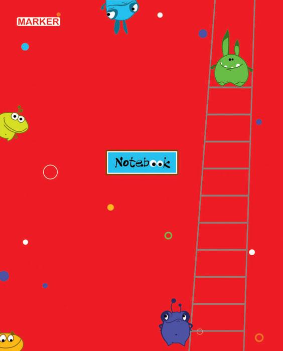 Marker Тетрадь Фаннималс 60 листов в клетку цвет красныйM-1050560N-3Тетрадь в клетку Marker Фаннималс подойдет для различных работ не только студенту и школьнику, но и для личных записей любому современному человеку. Обложка тетради выполнена из мелованного картона с оригинальным дизайнерским рисунком. Внутренний блок тетради состоит из 60 листов высококачественной бумаги повышенной белизны. Уникальная технологии крепления - прошивка шелковой нитью по сгибу изделия - это отдельный эффектный элемент дизайна и повышенные прочность и удобство в использовании. Закругленные углы надолго сохраняют отличный вид изделия.
