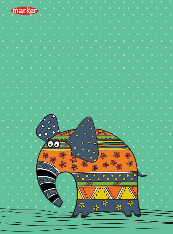 Marker Записная книжка Flolar Pets Слон 40 листов в клетку