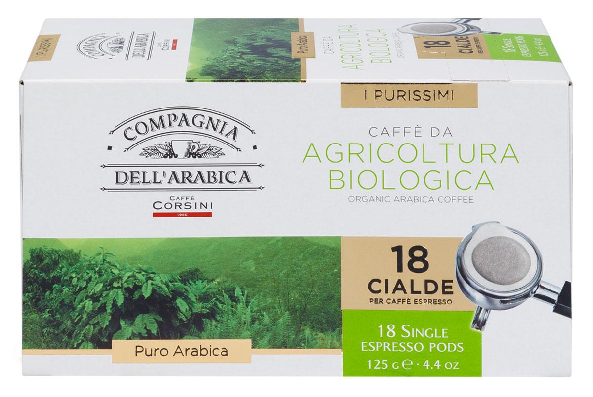Compagnia Dell'Arabica Caffe Puro Arabica Da Agricultura Biologica кофе в чалдах, 18 шт 8001684010493