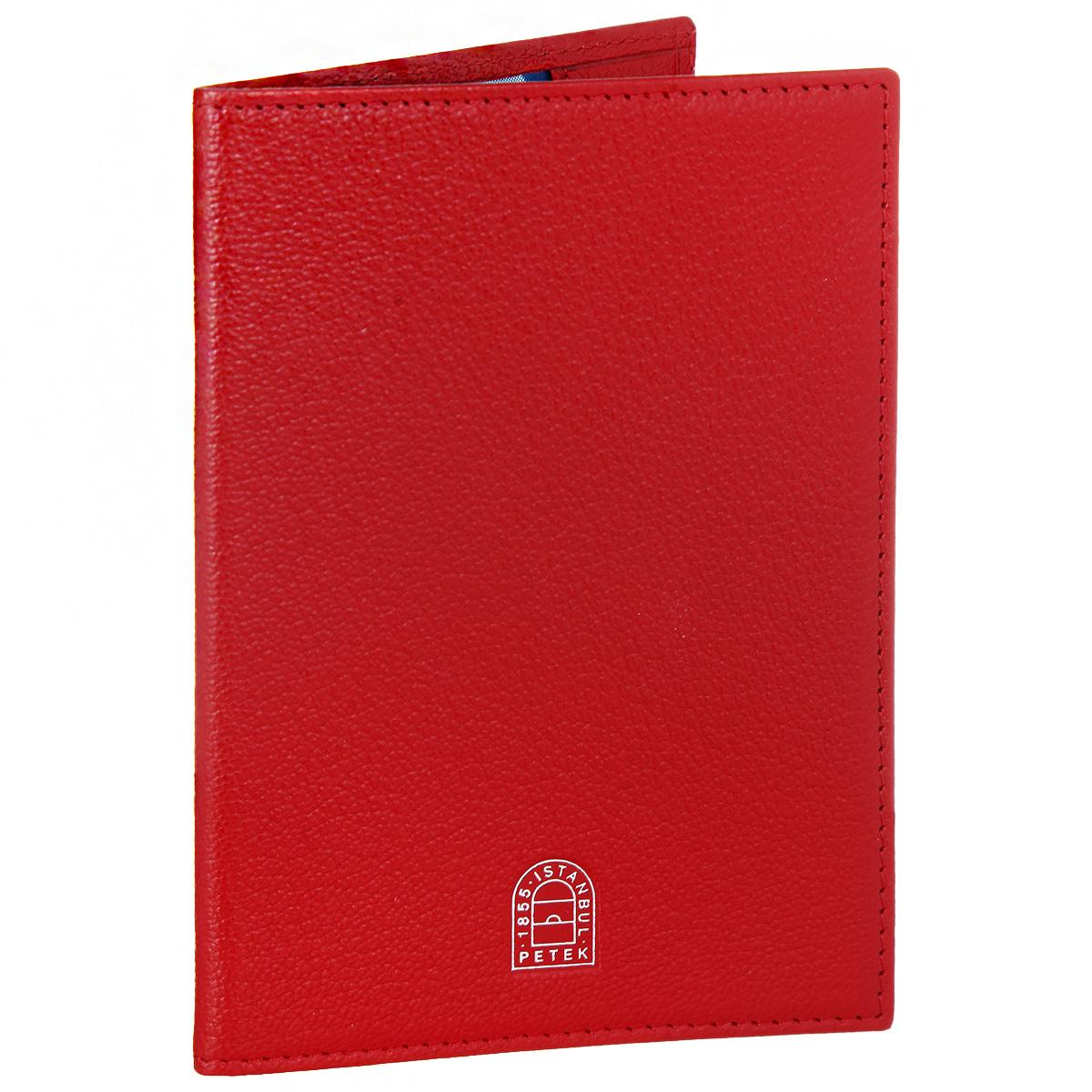 Обложка для паспорта Petek 1855, цвет: красный. S15019.ALS.10 RedS15019.ALS.10 RedСтильная обложка для паспорта Petek 1855 выполнена из натуральной кожи контрастных оттенков с зернистой текстурой. Обложка оформлена декоративной строчкой и тиснением с названием бренда. На оборотной стороне имеет карман для посадочного талона. Элегантная обложка Petek 1855 не только поможет сохранить внешний вид ваших документов и защитит их от повреждений, но и станет стильным аксессуаром, идеально подходящим вашему образу.
