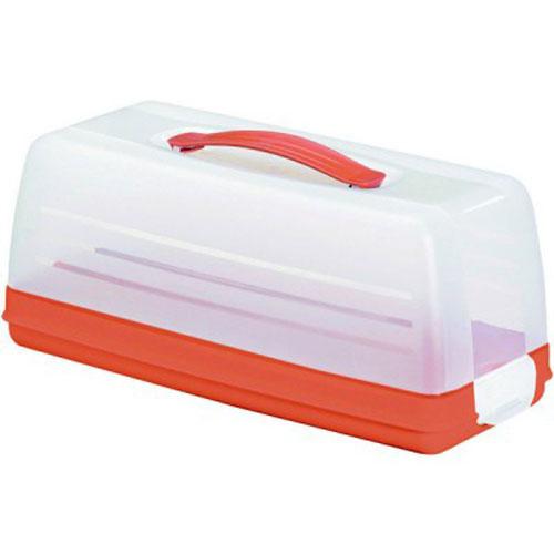 Емкость для торта Curver, цвет: прозрачный, оранжевый, 33 см х 15 см х 14 см414_оранжевыйЕмкость для торта Curver изготовлена из высококачественного пищевого пластика. Изделие представляет собой прямоугольный поднос и прозрачную крышку, надежно закрывающуюся на 2 защелки. Крышка убережет выпечку от насекомых, заветривания, влаги и других воздействий внешней среды. Емкость снабжена удобной ручкой для переноски. Можно мыть в посудомоечной машине. Размер крышки: 33 см х 14,5 см х 12 см. Размер подноса (без учета крышки): 33 см х 15 см х 4 см.