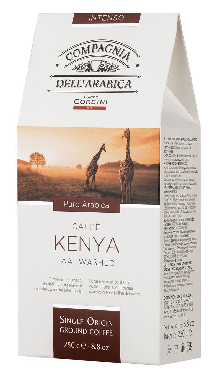 Compagnia DellArabica Kenya AA Washed молотый кофе, 250 г (вакуумная упаковка)8001684025602Compagnia DellArabica Kenya AA Washed - элитный высокогорный сорт 100% арабики, считающийся поистине взрослым кофе. Это напиток с ярко выраженной кислинкой, проникающей терпкостью, интенсивным привкусом и освежающим бодрящим действием. Чтобы насладиться неповторимым вкусом молотого кофе от Compagnia DellArabica, вы можете приготовить его любым известным вам способом, даже просто залив кипятком в чашке!