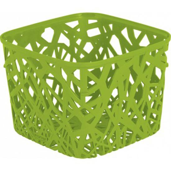 Корзинка Curver Ecolife, цвет: зеленый, 19,2 см х 19,2 см х 14,4 см4160_зелёныйКвадратная корзинка Curver Ecolife изготовлена из высококачественного пластика. Предназначена для хранения различных предметов в ванной, на кухне, на даче или в гараже. Стенки корзины оформлены изящной перфорацией, обеспечивающей естественную вентиляцию.