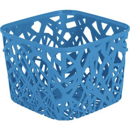 Корзинка Curver Ecolife, цвет: голубой, 19,2 х 19,2 х 14,4 см4160_голубойКвадратная корзинка Curver Ecolife изготовлена из высококачественного пластика. Предназначена для хранения различных предметов в ванной, на кухне, на даче или в гараже. Стенки корзины оформлены изящной перфорацией, обеспечивающей естественную вентиляцию.