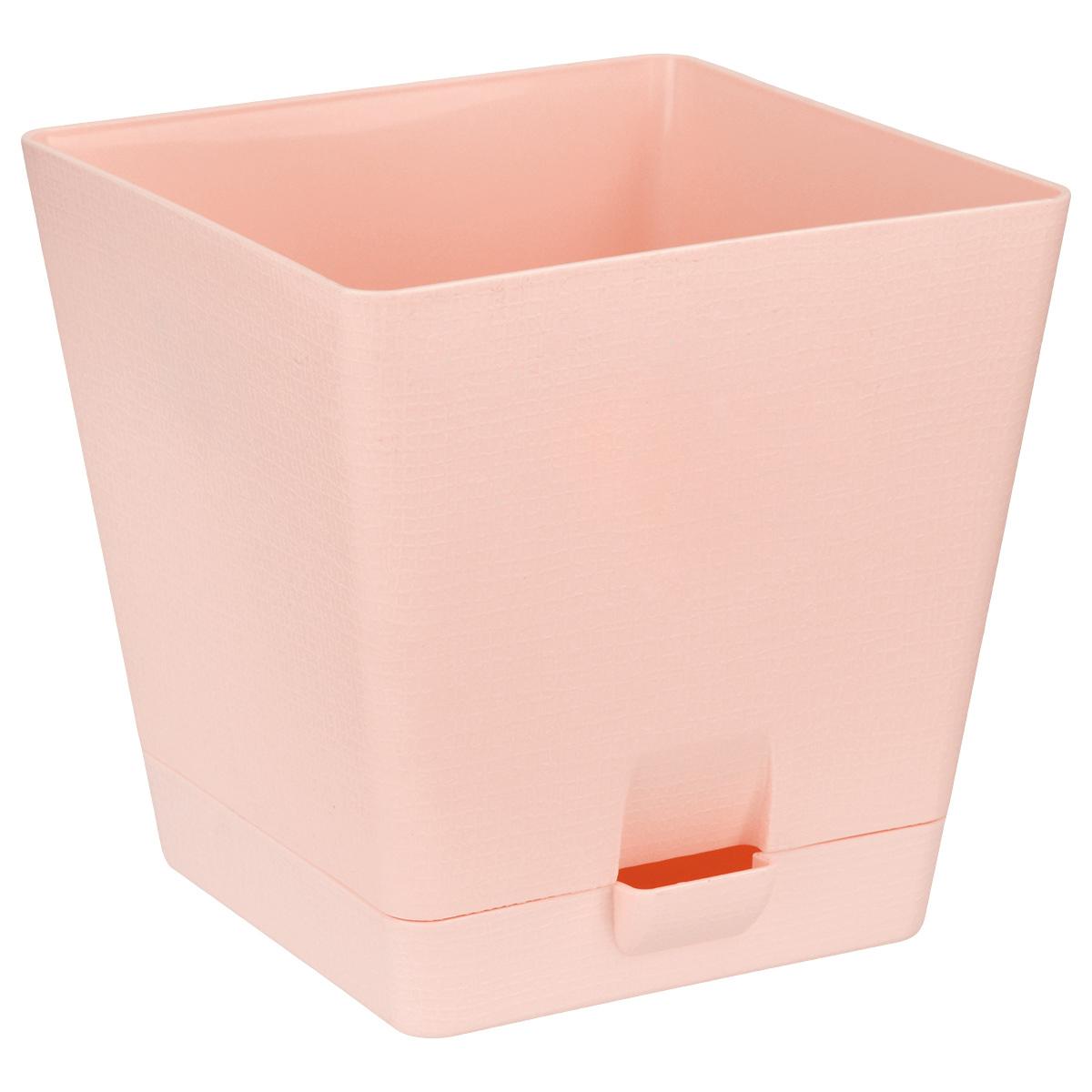 Горшок для цветов Le Parterre, с поддоном, цвет: розовый, 2 л211-3Горшок для цветов Le Parterre с системой прикорневого полива выполнен из полипропилена (пластика) и предназначен для выращивания в нем цветов, растений и трав. Система прикорневого полива способствует вентиляции и дренажу корневой системы растения. Такой горшок порадует вас современным дизайном и функциональностью, а также оригинально украсит интерьер помещения.