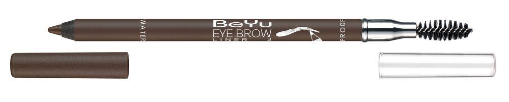 BeYu Карандаш для бровей с щеточкой № 3 темно-коричневый Eyebrow Liner Waterproof , 1г.