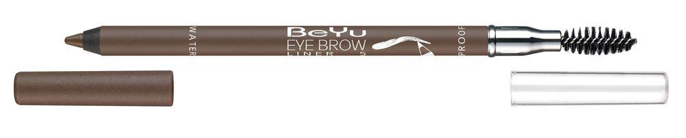 BeYu Карандаш для бровей с щеточкой № 5 коричнево-серый Eyebrow Liner Waterproof , 1г.