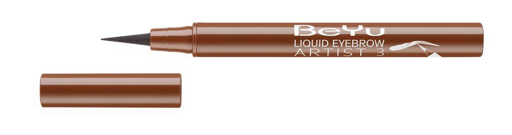 BeYu Фломастер для бровей Liquid Eyebrow Artist № 3 светло-коричневый, 1,2мл3682.3Жидкий, устойчивый фломастер для бровей с тонким фетровым аппликатором. Точно и легко наносится, мгновенно заполняет линию брови. Устойчиво держится в течение дня.