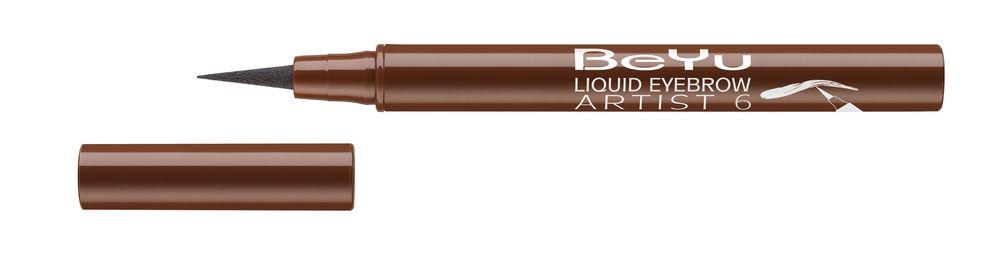 BeYu Фломастер для бровей Liquid Eyebrow Artist № 6 темно-коричневый , 1,2мл3682.6Жидкий, устойчивый фломастер для бровей с тонким фетровым аппликатором. Точно и легко наносится, мгновенно заполняет линию брови. Устойчиво держится в течение дня.