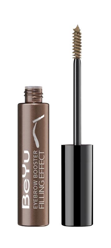 BeYu Гель для бровей с микроволокнами Eyebrow Booster Filling Effect № 6 светло-коричневый , 8мл