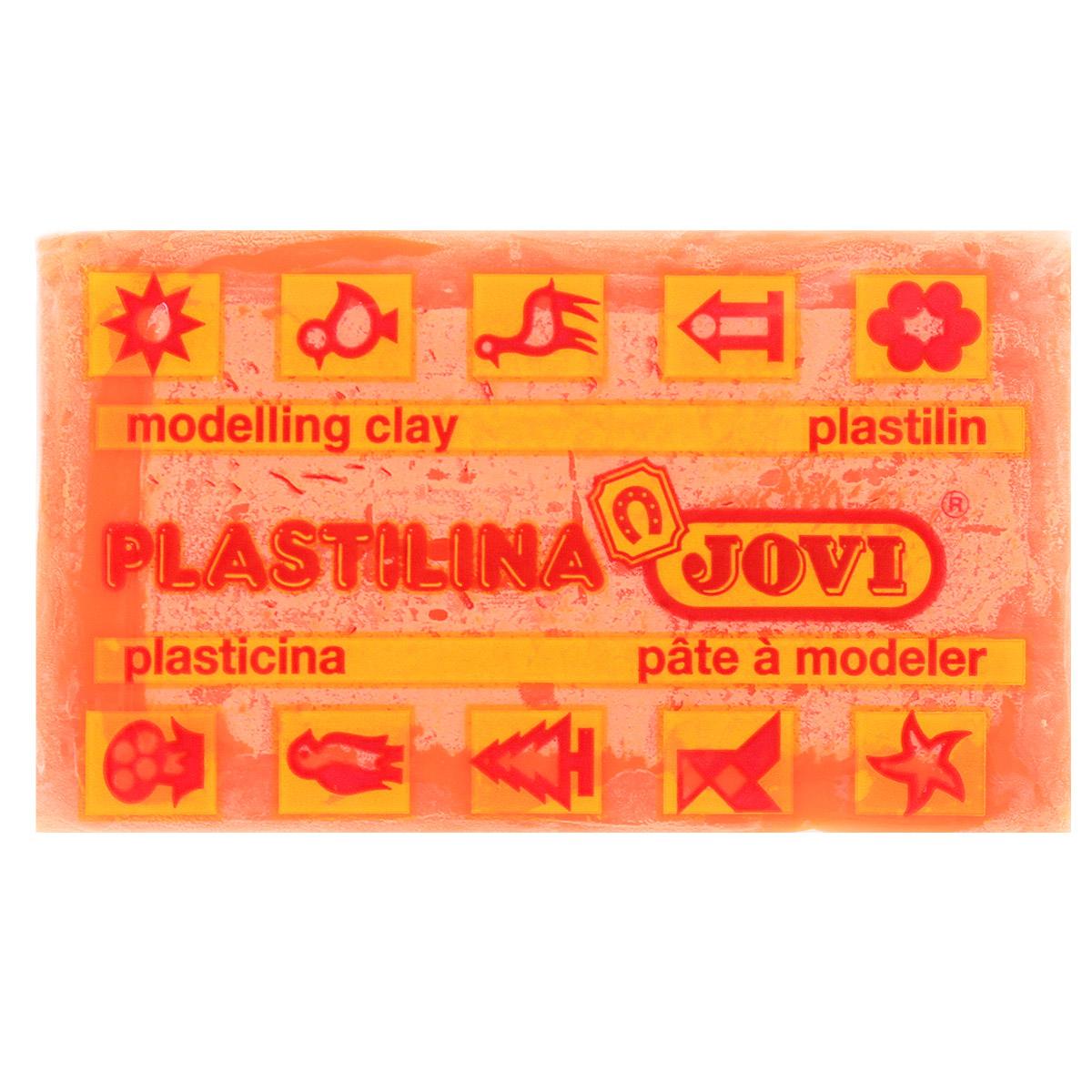 Jovi Пластилин флюоресцентный, цвет: ярко-оранжевый, 50 г schleich набор для конных преград schleich