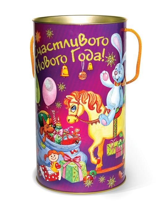 """Туба подарочная Правила Успеха """"Праздник игрушек"""", диаметр 12 см"""