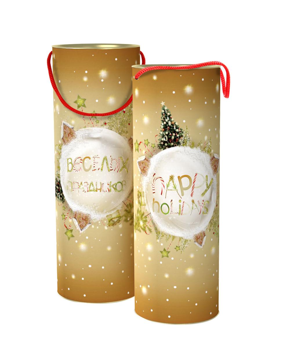 Тубус новогодний Сахарный праздник 12*35 см4610009211350