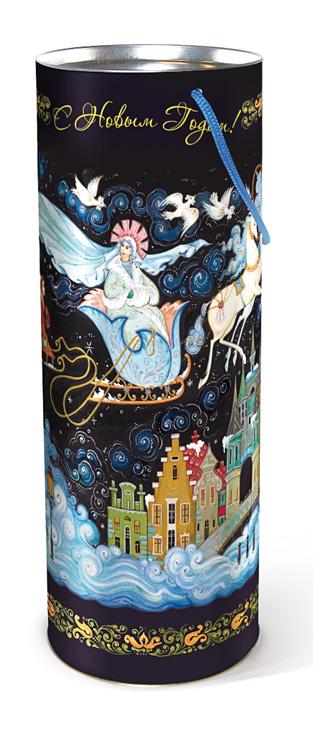 Туба подарочная Правила Успеха Снежная королева, диаметр 12 см4610009211442Подарочная туба Правила Успеха Снежная королева выполнена из плотного картона и металла. Изделие оформлено художественной росписью в стиле палех. Туба оснащена крышкой и текстильной ручкой-шнурком. Подарочная туба - это оригинальное решение, если вы хотите порадовать близких людей и создать праздничное настроение, ведь подарок, преподнесенный в необычной упаковке, всегда будет самым эффектным и запоминающимся. Окружите близких людей вниманием и заботой, вручив презент в нарядном, праздничном оформлении. Высота тубы: 34,5 см.