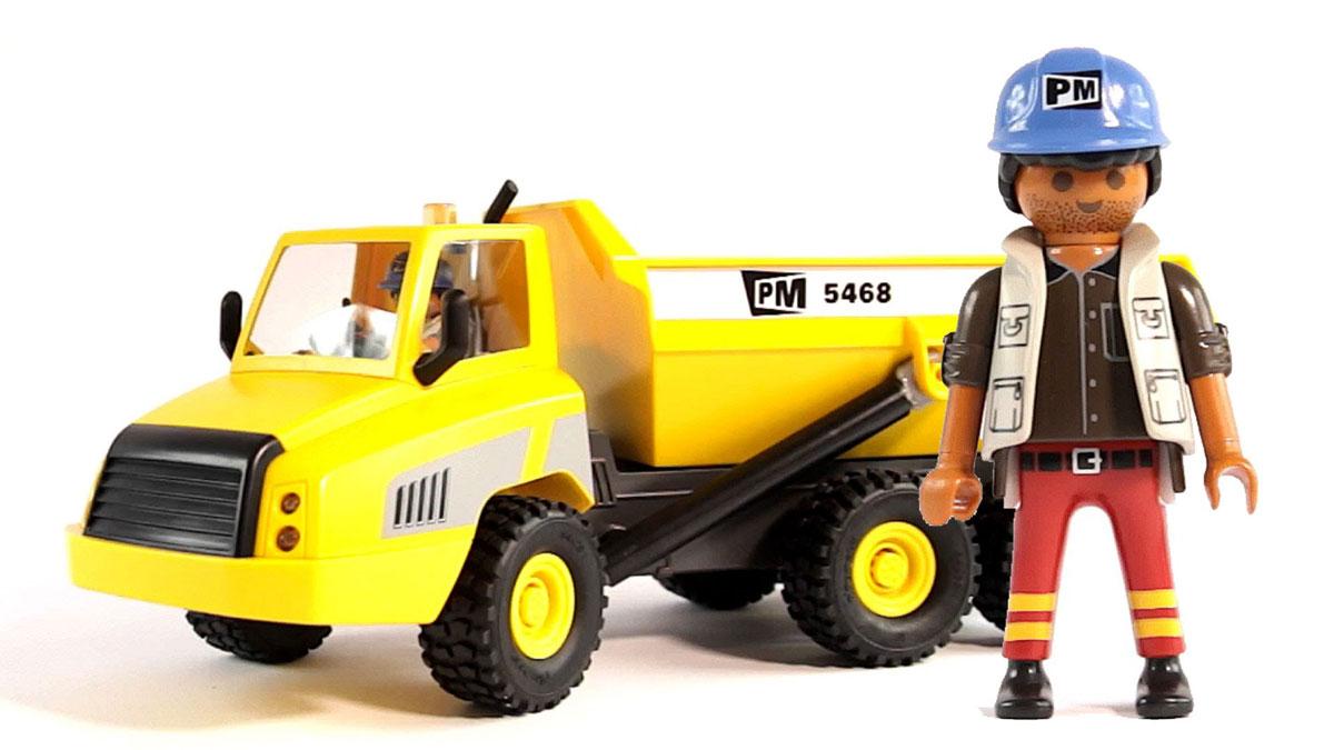 Playmobil Игровой набор Промышленный самосвал5468Игровой набор Playmobil Промышленный самосвал обязательно понравится вашему ребенку. Он выполнен из безопасного пластика и включает элементы для сборки промышленного самосвала, фигурку водителя и аксессуары для игры. У фигурки подвижные части тела; в руках она может удерживать предметы. Сильная конструкция транспортного средства имеет изменяемый угол наклона загрузочной коробки, съемную крышу и сцепное устройство. Ваш ребенок с удовольствием будет играть с набором, придумывая захватывающие истории. Рекомендуемый возраст: от 4 до 10 лет.