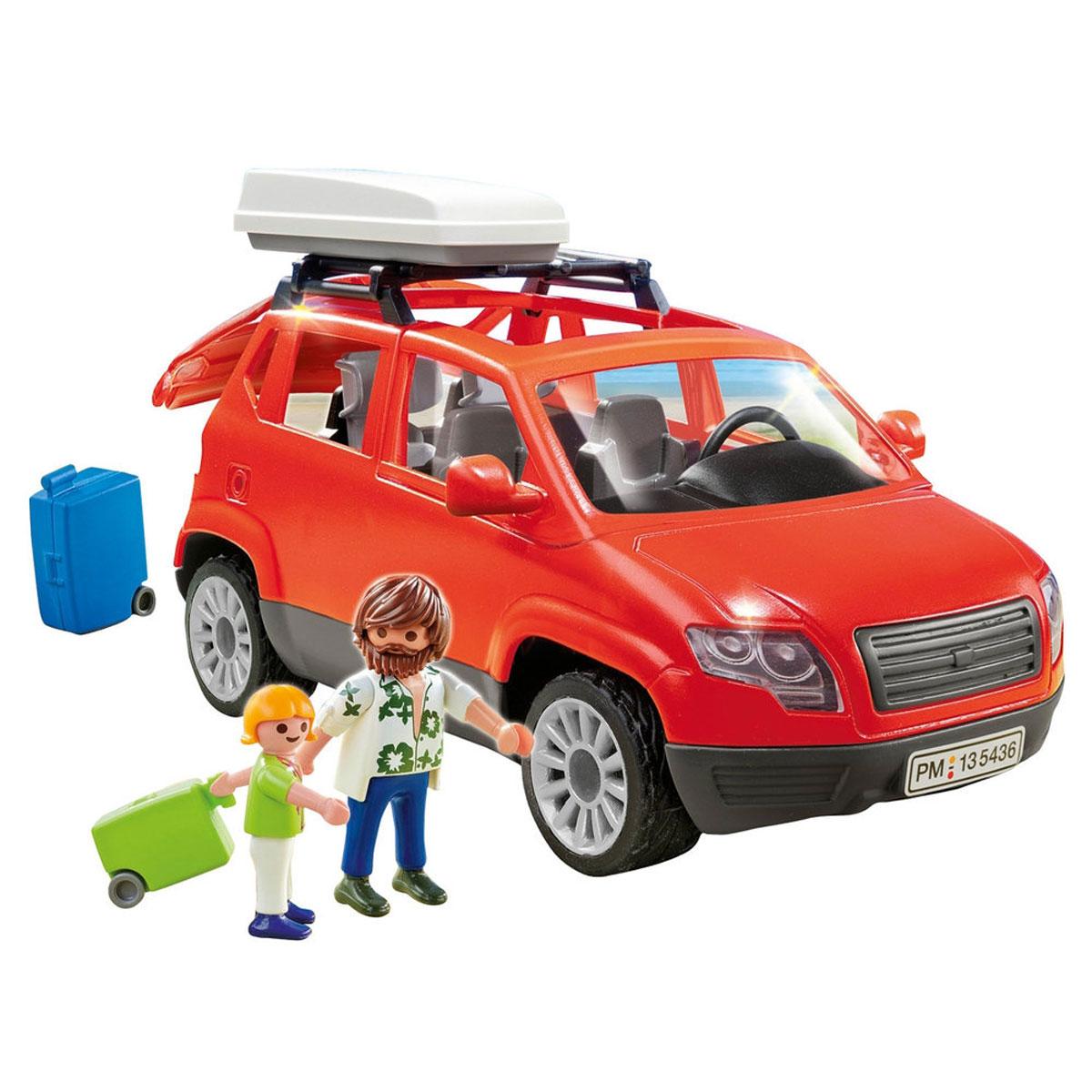 Playmobil Игровой набор Семейный автомобиль5436pmИгровой набор Playmobil Семейный автомобиль понравится вашему малышу и надолго увлечет его. В комплект входят: 2 фигурки человечков, автомобиль, чемоданы, а также дополнительные аксессуары, которые сделают игру еще интереснее. Элементы набора выполнены из прочного пластика ярких цветов. Руки и головы фигурок подвижны, а благодаря специальной форме ручек, они могут держать различные небольшие предметы, входящие в набор. Багажник машины открывается, в него можно сложить чемоданы. Набор совместим с другими наборами из серии Summer Fun. Великолепный автомобиль для поездок в кругу семьи. Сколько всего интересного можно увидеть, путешествуя на этом замечательном минивене. Игры с таким набором позволят ребенку весело провести время, а также помогут развить мелкую моторику пальчиков, внимательность и воображение. Порадуйте своего малыша такой чудесной игрушкой! Машинка совместима с радиоуправляемым модулем для...