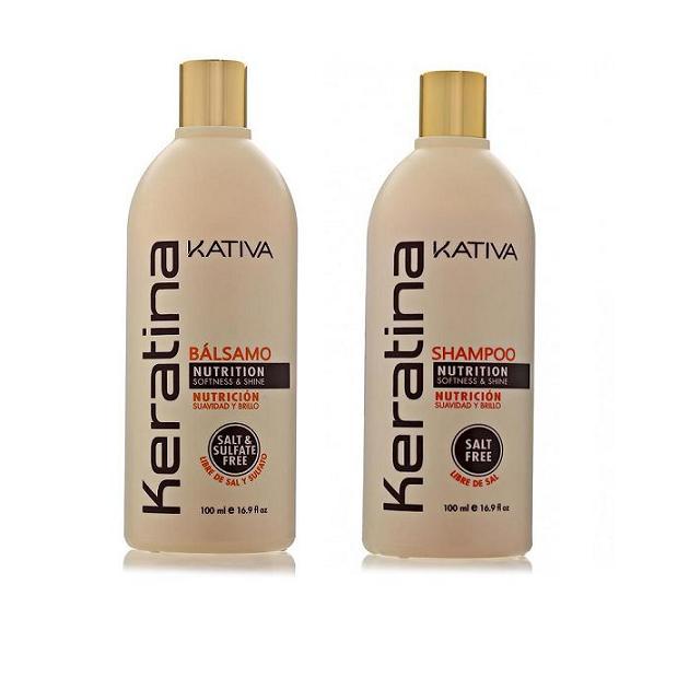 Kativa Набор: укрепляющий шампунь и конциционер с кератином 2х100мл KERATINA