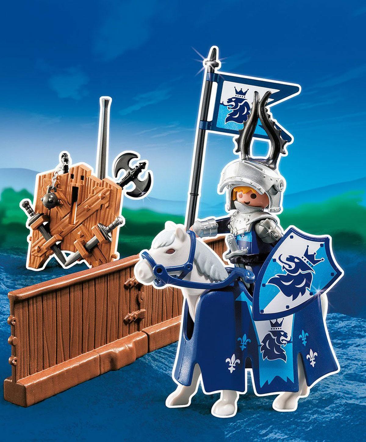 Playmobil Игровой набор Турнир рыцаря ордена Льва5356pmИгровой набор Playmobil Турнир рыцаря ордена Льва обязательно понравится вашему ребенку. Он выполнен из безопасного пластика и включает фигурку рыцаря ордена Льва, его лошадь, оружие, изгородь и другие аксессуары для игры. У рыцаря подвижные части тела; в руках он может удерживать предметы. Его рогатый шлем подействует на противника устрашающе еще до того, как рыцарь пустит в ход свое оружие! Зрителям лучше держаться за изгородью. Фрагмент изгороди можно соединить с другими частями и образовать замкнутый круг. Ваш ребенок с удовольствием будет играть с набором, придумывая захватывающие истории. Доступны мобильные приложения. Рекомендуемый возраст: от 4 до 10 лет.