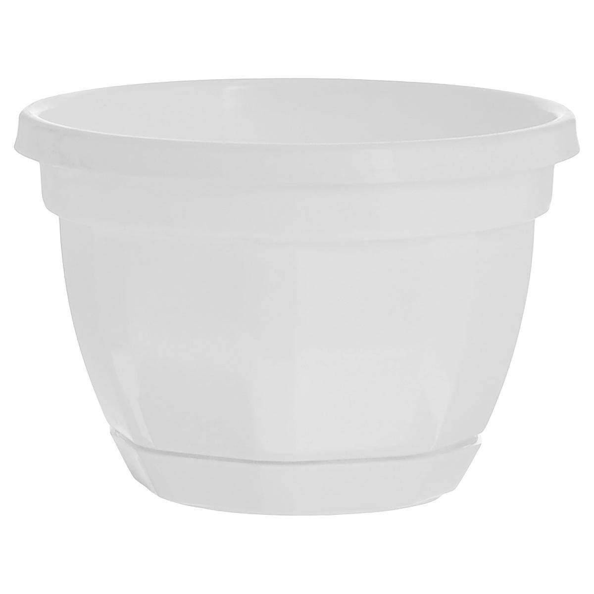 Кашпо Инстар Ника, с поддоном, цвет: белый, диаметр 20 смст020белКашпо Инстар Ника изготовлено из прочного пластика и предназначено для выращивания растений, цветов и трав в домашних условиях. Специальный поддон собирает воду. Такое кашпо порадует вас дизайном и функциональностью, а также прекрасно подойдет под любой интерьер.