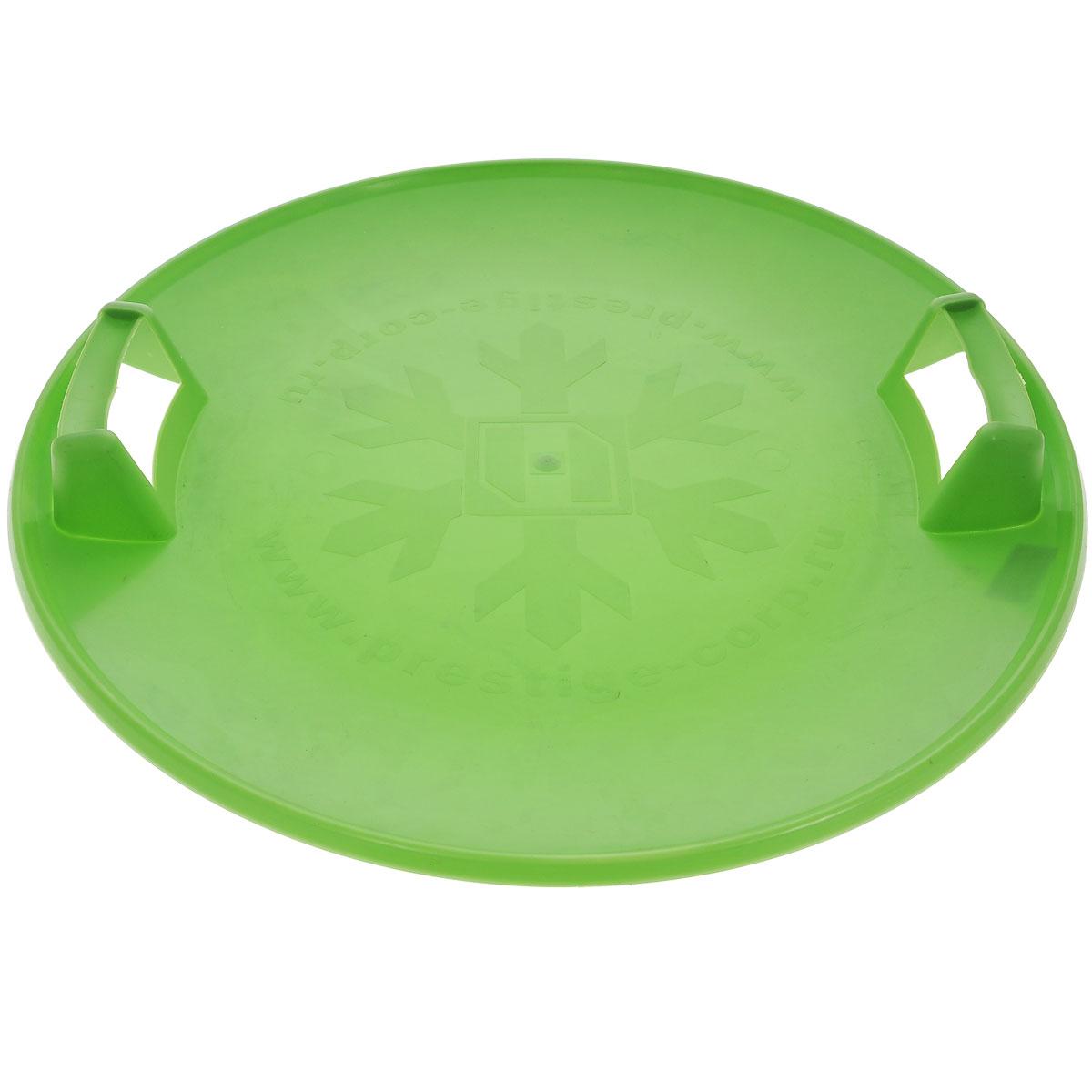 Престиж Санки-ледянки Экстрим, с ручками, цвет: зеленый, диаметр 580 мм267111Санки-ледянки Престиж Экстрим подарят море позитивного настроения холодной зимой, ведь на них так весело съезжать с крутых ледяных склонов! Легкие, прочные санки из морозостойкого пластика прослужат долго. Санки имеют две пластиковые ручки для удобства катания и ношения. Дно санок украшено рельефным изображением снежинки. Диаметр санок: 58 см.