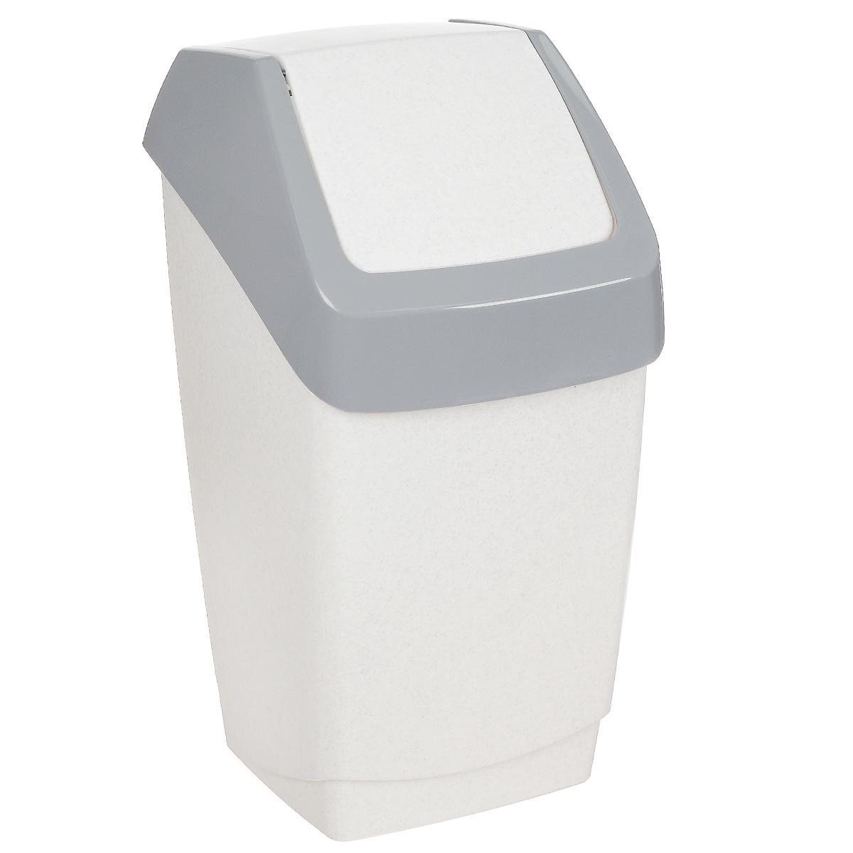 Контейнер для мусора Idea Хапс, цвет: белый мрамор, 15 лМ 2471Контейнер для мусора Idea Хапс изготовлен из прочного полипропилена (пластика). Контейнер снабжен удобной съемной крышкой с подвижной перегородкой. Благодаря лаконичному дизайну такой контейнер идеально впишется в интерьер и дома, и офиса.