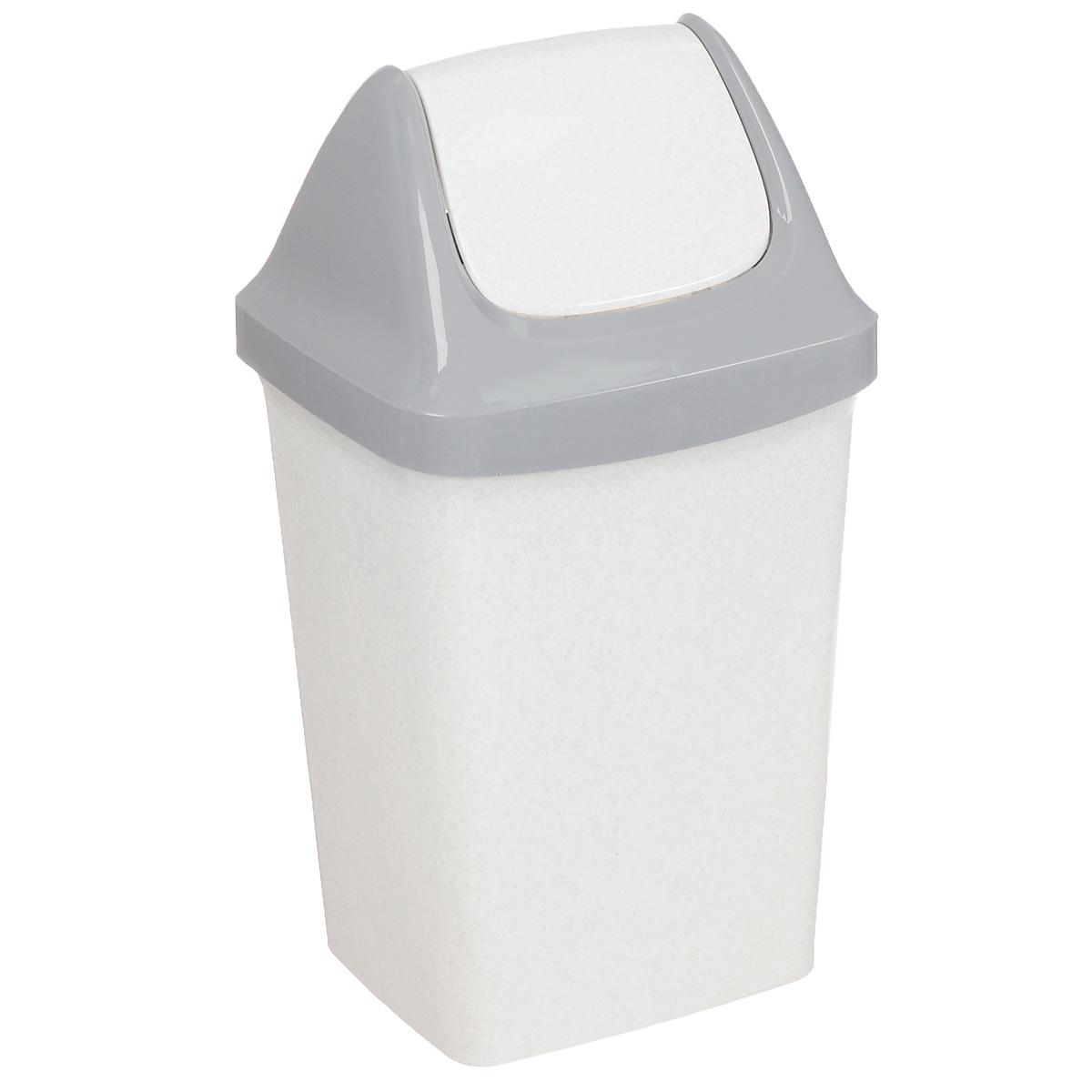 Контейнер для мусора Idea Свинг, цвет: белый мрамор, 25 лМ 2463Контейнер для мусора Idea Свинг изготовлен из прочного полипропилена (пластика). Контейнер снабжен удобной съемной крышкой с подвижной перегородкой. Благодаря лаконичному дизайну такой контейнер идеально впишется в интерьер и дома, и офиса.