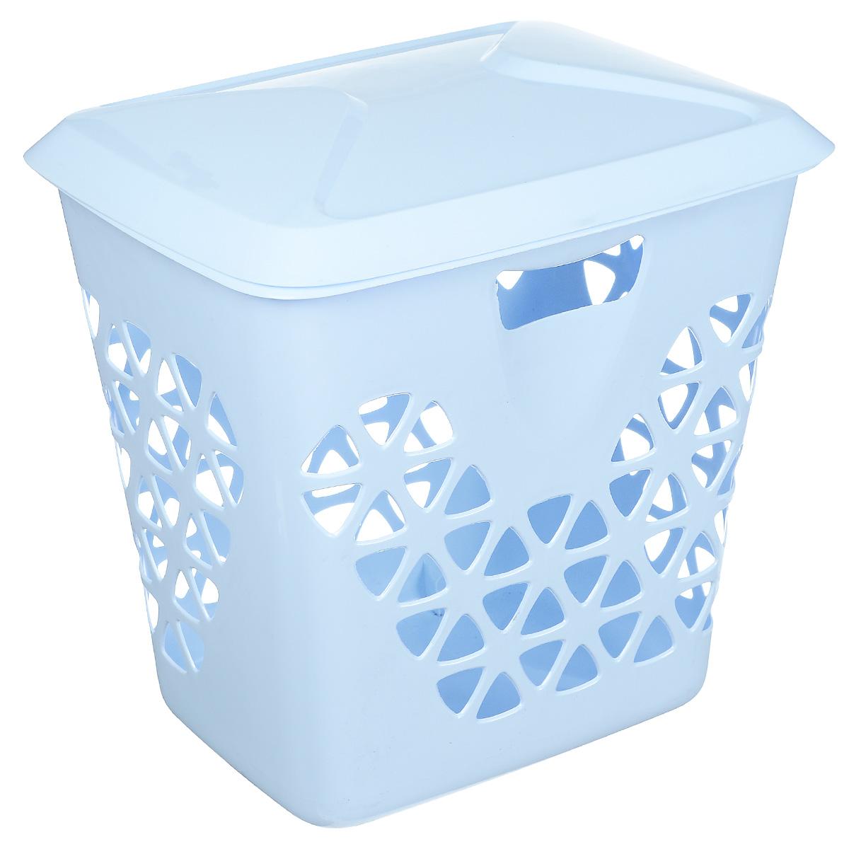 Корзина для белья Idea Венеция, цвет: голубой, 45 лМ 2605Вместительная корзина для белья Idea Венеция изготовлена из прочного пластика. Она отлично подойдет для хранения белья перед стиркой. Специальные отверстия на стенках создают идеальные условия для проветривания. Изделие оснащено крышкой. Такая корзина для белья прекрасно впишется в интерьер ванной комнаты.