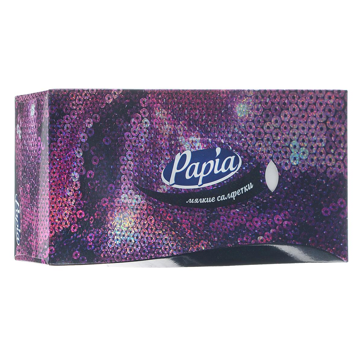 Салфетки бумажные Papia, трехслойные, цвет: фиолетовый, 21 x 21 см, 80 шт15309_фиолетовыйТрехслойные салфетки Papia выполнены из 100% целлюлозы. Салфетки подходят для косметического, санитарно-гигиенического и хозяйственного назначения. Нежные и мягкие, они удивят вас не только своим высоким качеством, но и внешним видом. Изделия упакованы в коробку, поэтому их удобно использовать дома или взять с собой в офис или машину. Размер салфеток: 21 см х 21 см.